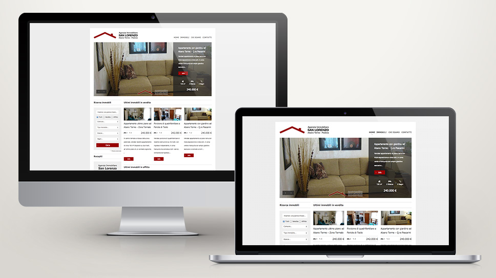 Realizzazione sito web con cms autogestito per immobiliare - Immobiliare san lorenzo ...