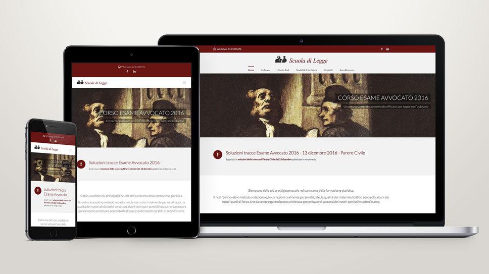Sito web per corsi online con area riservata - Scuola di Legge