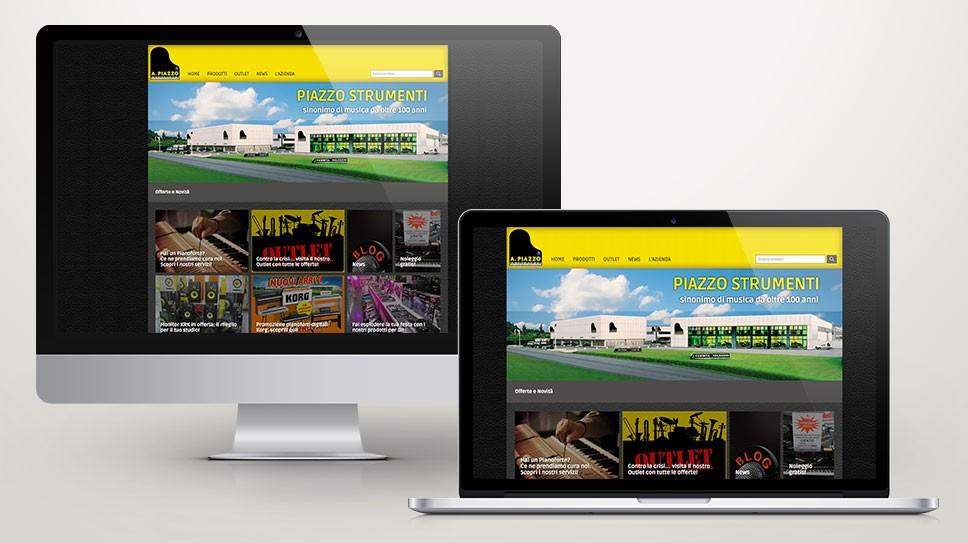 Sito web con vetrina prodotti Piazzo