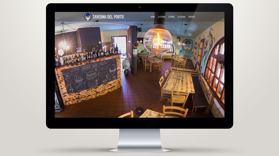 Sito web one page Padova - Taverna del porto